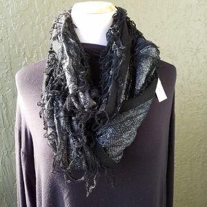 NWT Anna & Ava Black silver infinity scarf